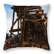 Independence Gold Mine Ruins Throw Pillow