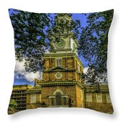 Independence Hall-philadelphia Throw Pillow