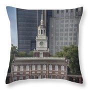 Independence Hall Throw Pillow