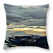 Independence Pass Sunset Throw Pillow