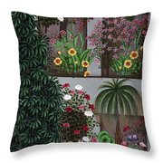 India: Garden Throw Pillow