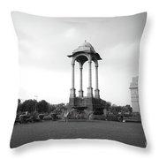 India Gate - Monochrome Throw Pillow