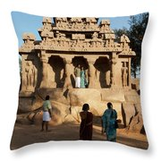 India Mahabalipuram  Throw Pillow