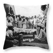 India: Malaria Play, C1929 Throw Pillow