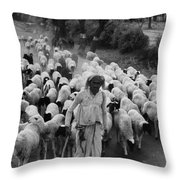India: Shepherd, 1966 Throw Pillow
