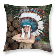 Indian 018 Throw Pillow