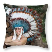 Indian 021 Throw Pillow