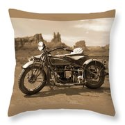 Indian 4 Sidecar Throw Pillow