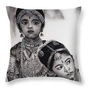 Indian Adornment Throw Pillow