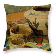 Indian Baskets 1 Throw Pillow