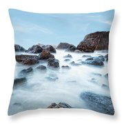 Indian Beach At Ecola State Park, Oregon  Throw Pillow