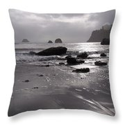 Indian Beach Throw Pillow