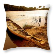 Indian Boat Throw Pillow