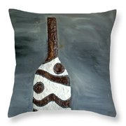 Indian Bottle Throw Pillow