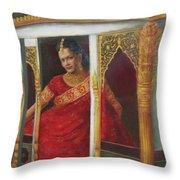 Indian Bride Throw Pillow