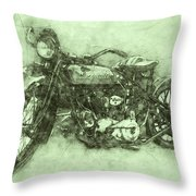 Indian Chief 3 - 1922 - Vintage Motorcycle Poster - Automotive Art Throw Pillow