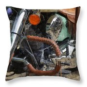 Indian Chief Vintage Ll Throw Pillow by Michelle Calkins