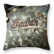 Indian Chopper Gas Tank Throw Pillow