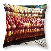 Indian Corn On The Cob Throw Pillow