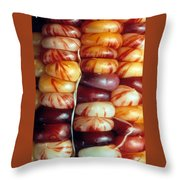 Indian Corn Patterns Throw Pillow