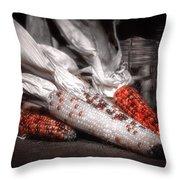 Indian Corn Still Life Throw Pillow
