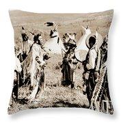 Indian Council Throw Pillow