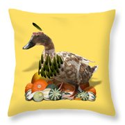Indian Duck Throw Pillow
