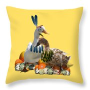 Indian Ducks Throw Pillow