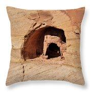 Indian Dwelling Canyon De Chelly Throw Pillow