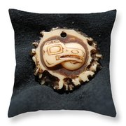 Indian Eagle Head Throw Pillow