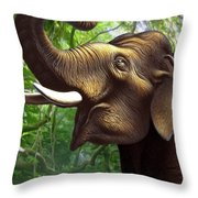 Indian Elephant 1 Throw Pillow