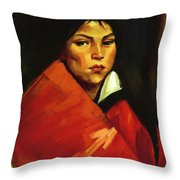 Indian Girl 1916 Throw Pillow