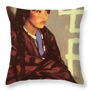 Indian Girl Of San Ildefonso 1917 Throw Pillow