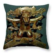 Indian Gold Throw Pillow