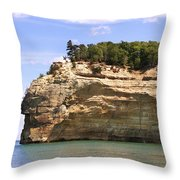 Indian Head Rock Throw Pillow