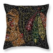 Indian Hockey Puck Mosaic Throw Pillow