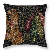 Indian Hockey Puck Mosaic Throw Pillow by Paul Van Scott