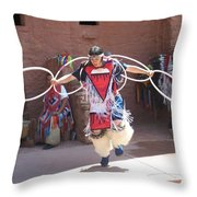 Indian Hoop Dancer Throw Pillow