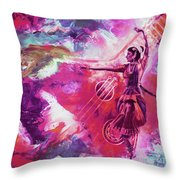 Indian Kathak Dance 87y Throw Pillow