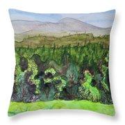 Bullhead Mountain, Indian Lake Overlook Panorama 3 Throw Pillow