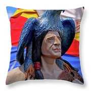 Indian Leader 001 Throw Pillow