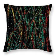 Indian Leaves Throw Pillow