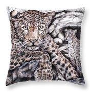 Indian Leopard Throw Pillow