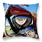 Indian Moto Blue Sky 81116 Throw Pillow