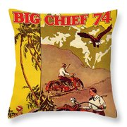 Indian Motorcycle Big Chief 74 Throw Pillow