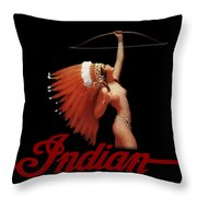 Indian Motorcycle Company Pinline Throw Pillow