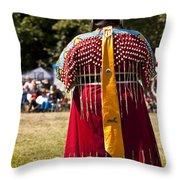 Indian Nation Pow Wow Dancers Throw Pillow
