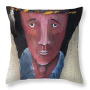 Indian On Palm 2 Throw Pillow