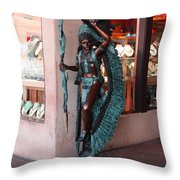 Indian On The Square Sante Fe Nm Throw Pillow