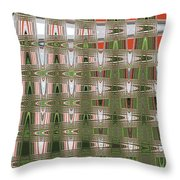 Indian Paint Pot Flower Abstract #2 Throw Pillow